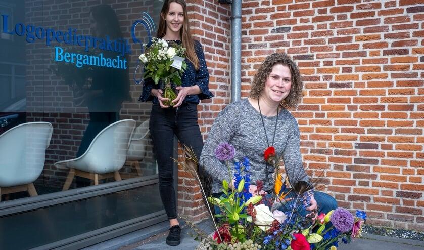 • Judith Verkleij (voorgrond) en Joyce Buijserd voor de nieuwe praktijkruimte.