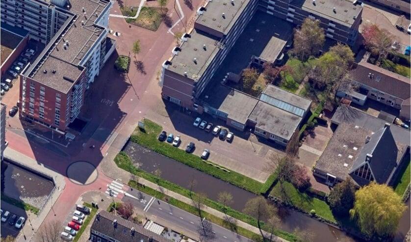 <p>• Het gebied waar de appartementen zullen komen.</p>