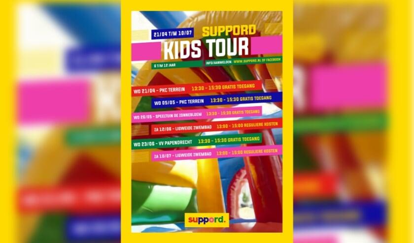 • Het affiche van de Kids Tour.