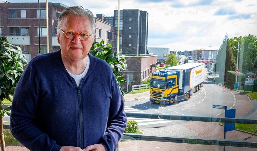 • Jan Vermaas ziet truckers dagelijks het inrijdverbod negeren.