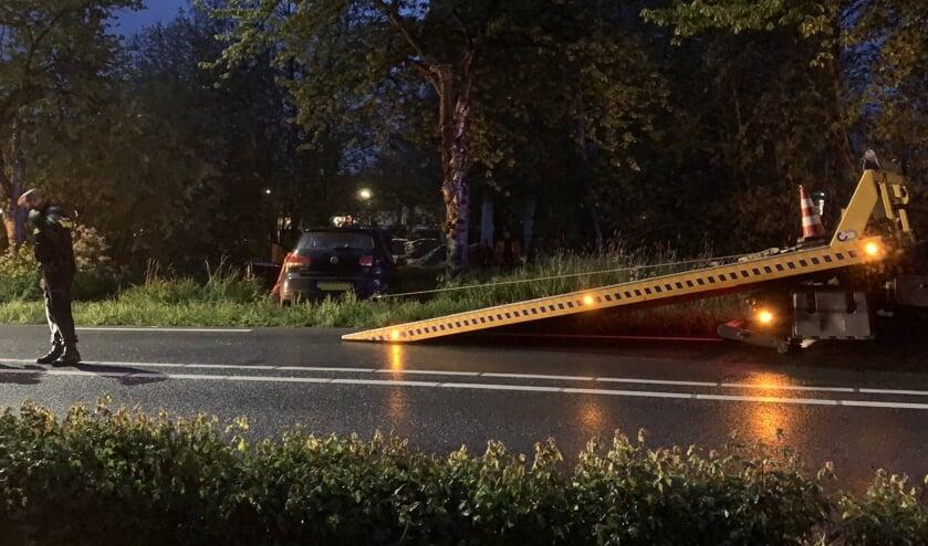 • De auto raakte van de weg.