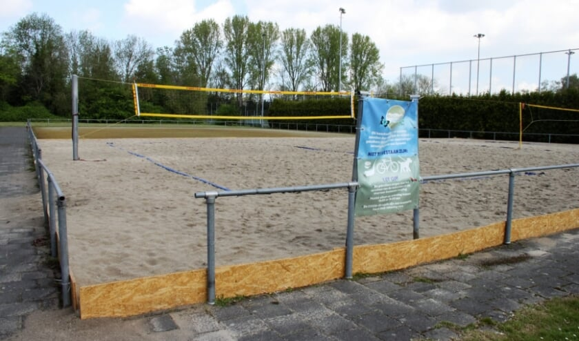 <p>&bull; Het beachveld aan de Driekamp.</p>