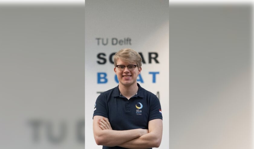 • Thomas Kamminga van het TU Delft Solar Boat Team.