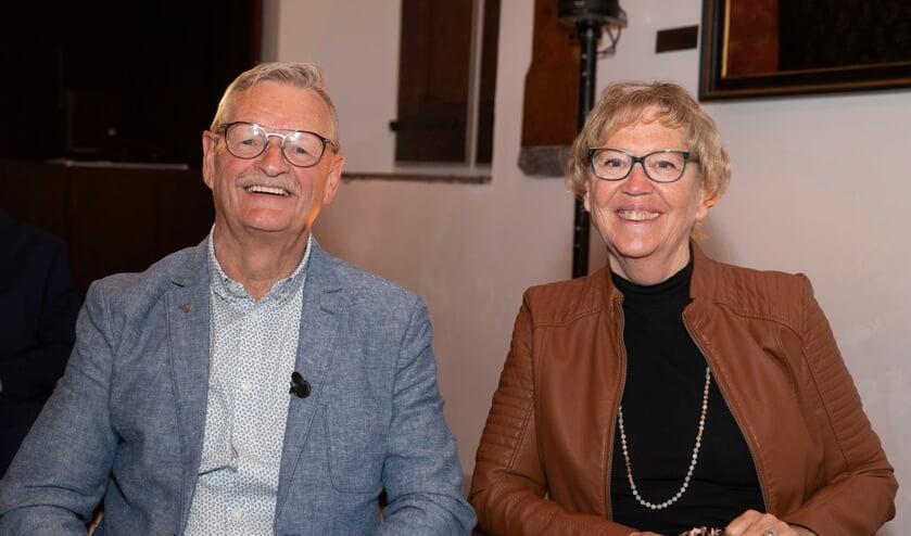 <p>• Johan den Hartog en zijn vrouw in de Burgerzaal.</p>