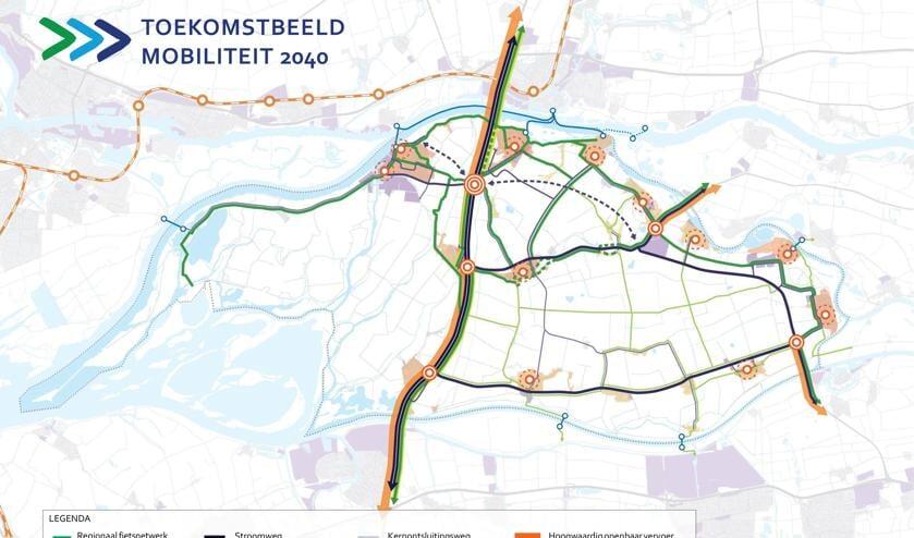 <p>De 22 projecten weergegeven op de kaart. De langste paarse stippellijn is de weg tussen de Rietdijk en de Tol.</p>