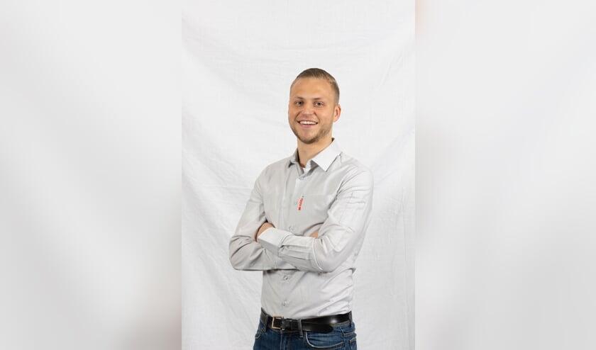 <p>Fabian van Horssen van supermarkt Spar in Genderen.</p>