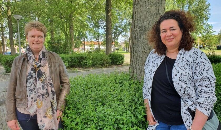 • Mariska Scalogne (links) en Edmee Bartelse.