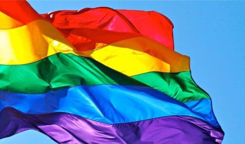 <p>• De regenboogvlag.</p>