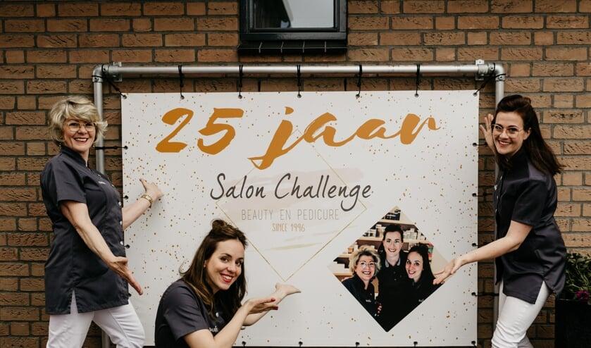 <p>Het team van Salon Challenge: Jolanda van Veen, Lorean van Ballegooijen en Brenda Steeman.</p>