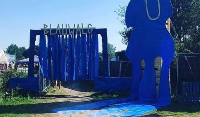 <p>Het Blauwalg festival bij de Slingelandse plassen in augustus 2019.</p>