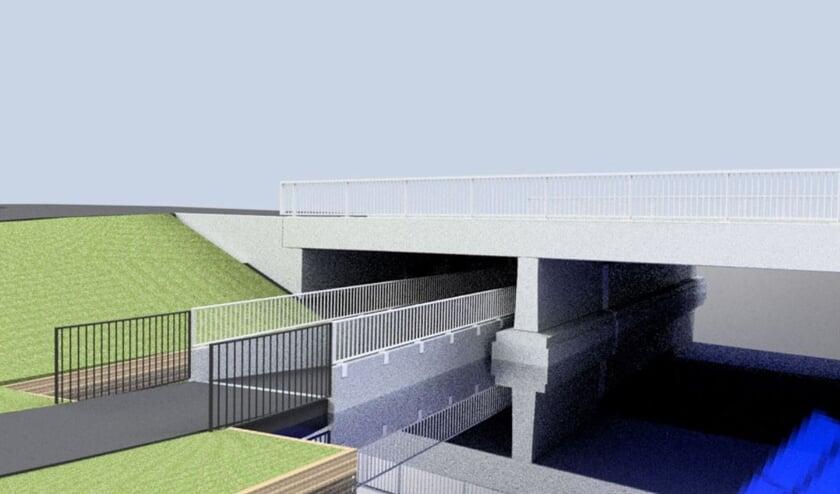 Impressie van de brug, gezien vanaf de Peursumseweg