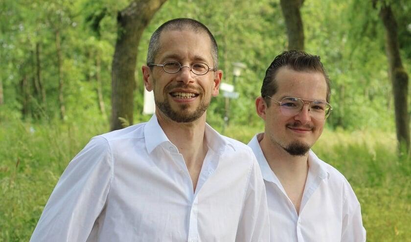 • Arjan de Bruin en Wouter van Blanken (rechts).