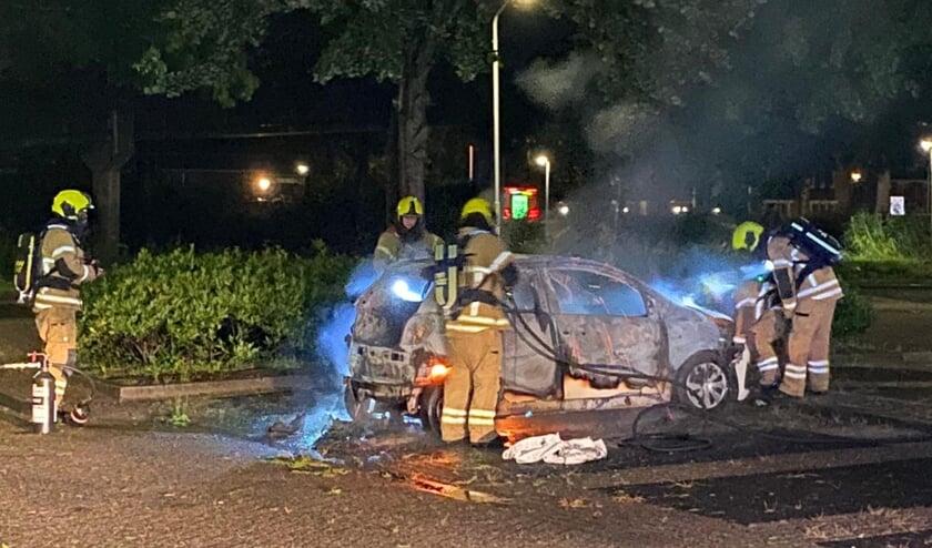 <p>&bull; Voor de vierde keer in korte tijd ging in Papendrecht een auto in vlammen op.</p>