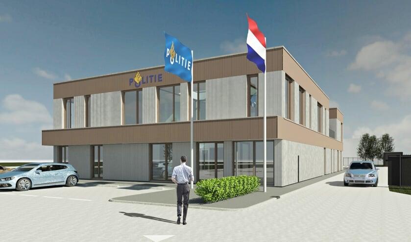 • Impressie van het nieuwe politiebureau.