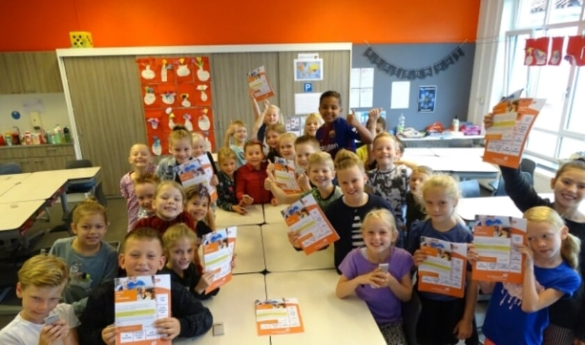 <p>Ook groep 4 van de Mariaschool ontving de folder over de actie &#39;Klooien met Kinderboeken&#39;.</p>