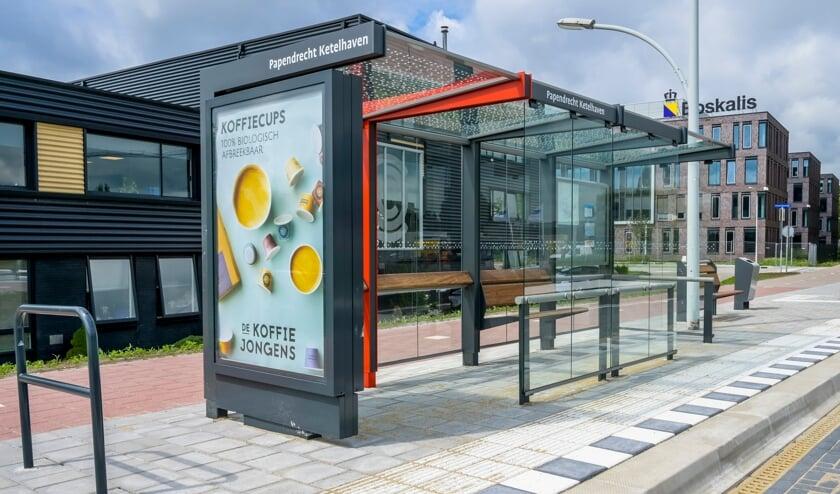 <p>&bull; De vernieuwde bushalte aan de Ketelweg.</p>