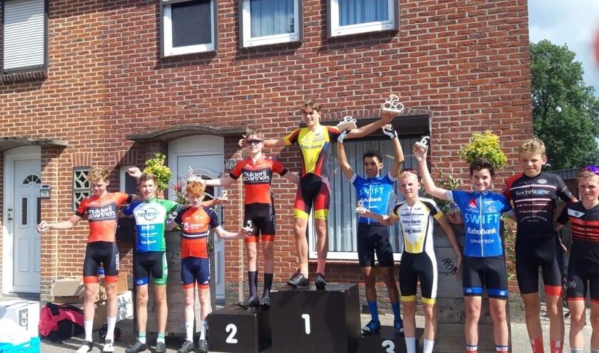 <p>• Daan Hartog weer op de hoogste trede van het podium.</p>