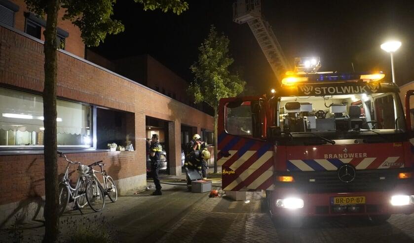 • De brandweer in actie.