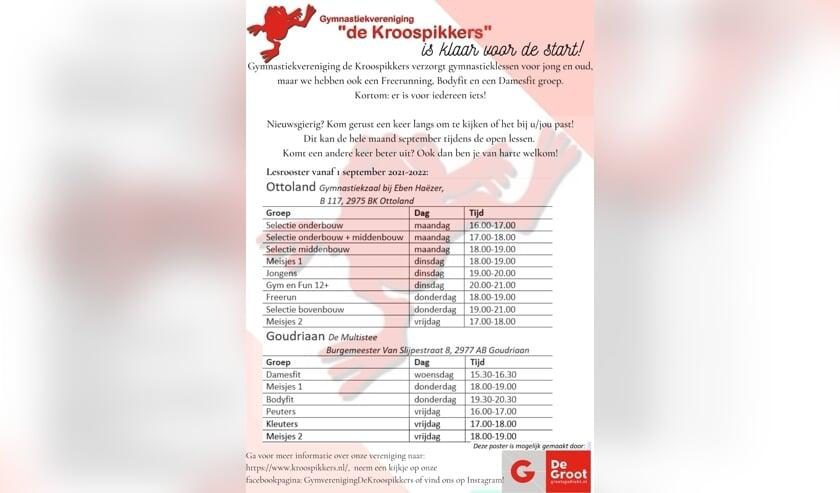 Lesrooster De Kroospikkers