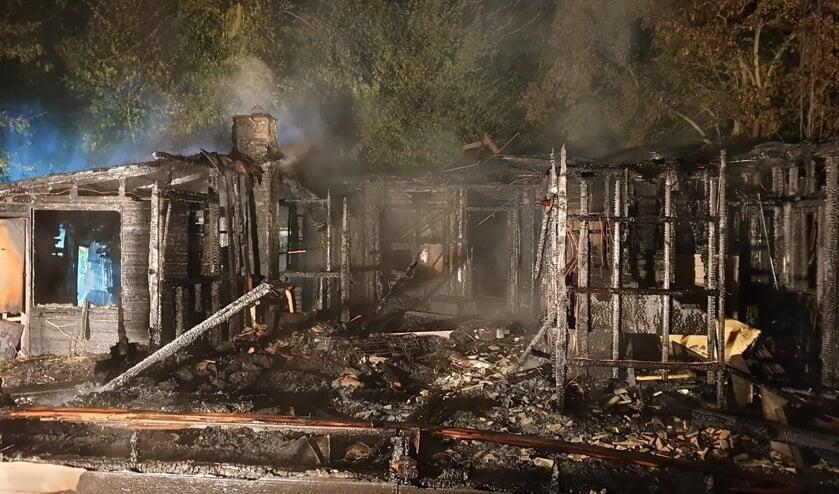 <p>&bull; In Haastrecht is afgelopen nacht een houten chalet volledig uitgebrand.</p>