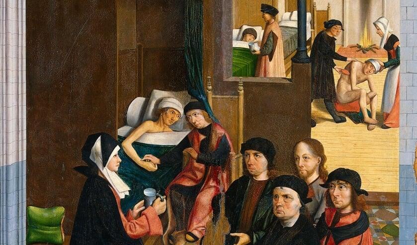 <p><strong>&nbsp;Zorgen voor de zieken. De zeven werken van Barmhartigheid van de Meester van Alkmaar uit ca. 1490 &ndash; 1510</strong></p>