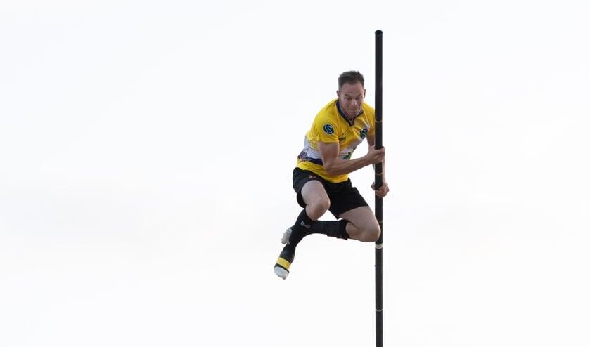<p>Jaco de Groot perste zich in zijn allerlaatste sprong naar 21.00 meter precies.&nbsp;</p>