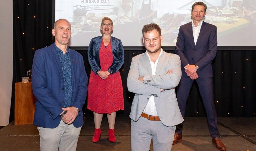 <p>Van links naar rechts: Peter Tresonie, Saskia Rikkerink, Johan Augustinus en Peter van der Geest.</p>