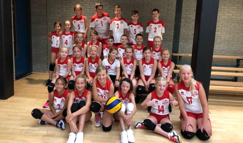 • De jeugd van Smash'66 die zaterdag heeft meegedaan aan een toernooi in Capelle aan den IJssel.