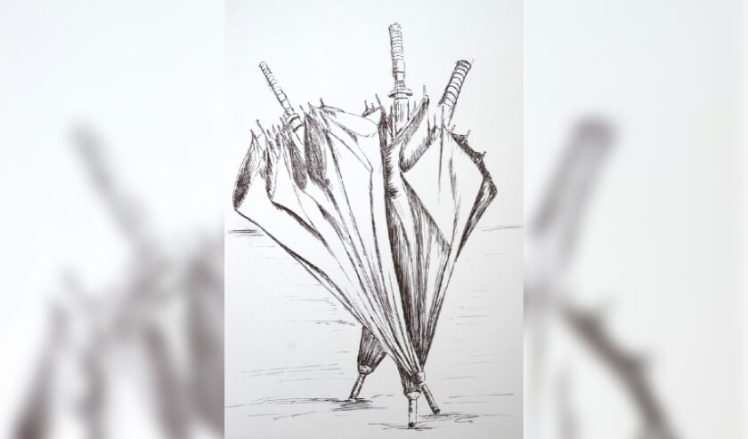 • De tekening 'paraplu's'.