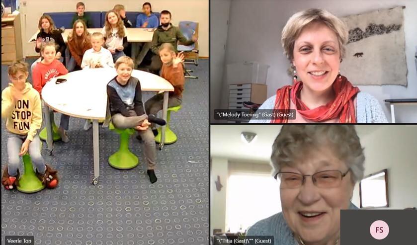 <p>Verhalen delen via videobellen in het project Toen en Toekomst.</p>