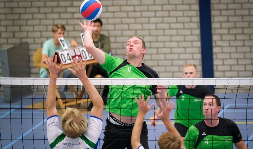 • Rik van der Poel in actie namens Voleco.