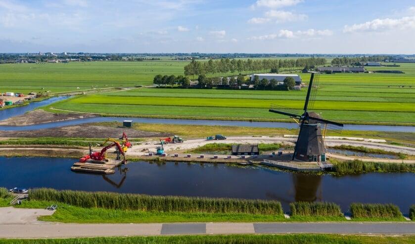 • De werkzaamheden aan de Molenkade in Groot-Ammers.