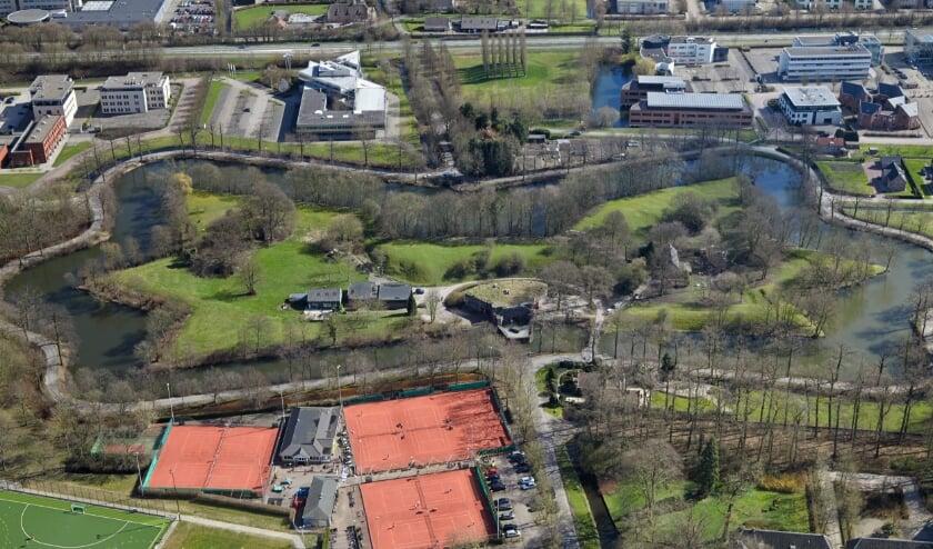 <p>Fort Jutphaas vanuit de lucht.</p>
