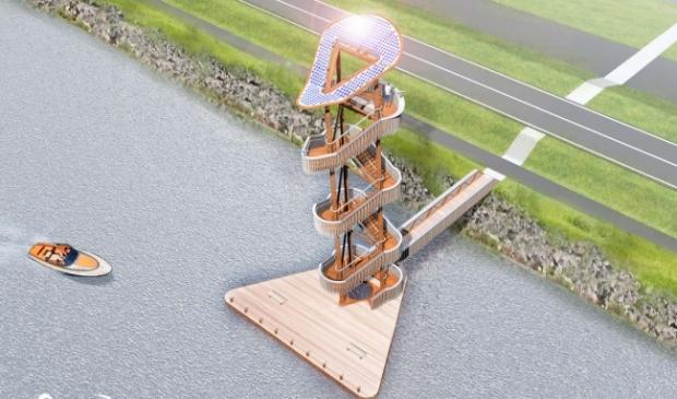 <p>Het ontwerp voor oorspronkelijke uitkijktoren.</p>