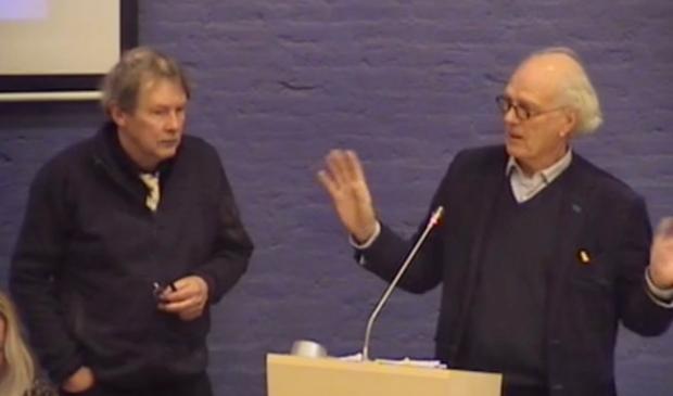 Stedebouwkundige Dick Lentink en architect Herman Dekkers.