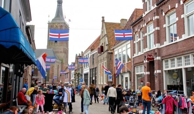 <p>Koningsdag in Hasselt in 2018.</p>