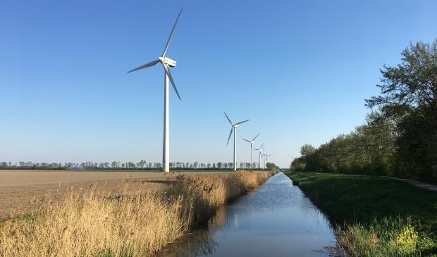<p>De windmolens langs de klokbekertocht.</p>