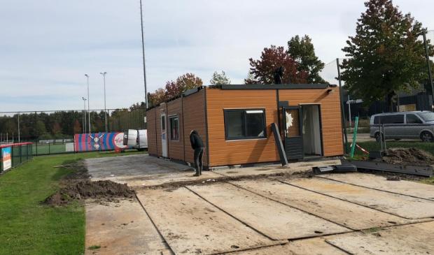 Het nieuwe clubhuis van De Vrijbuiters.