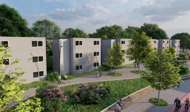 Impressie van de nieuwe studentenwoningen.
