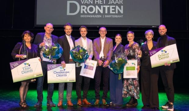 De winnaars van de ondernemersverkieizng 2019.