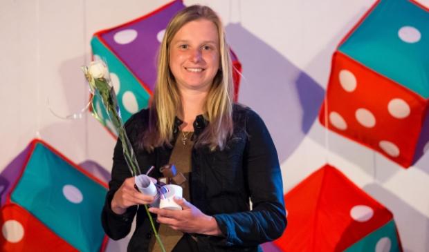 <p>Bianca Roosenboom tijdens de Kamper sportverkiezingen in 2016.&nbsp;</p>