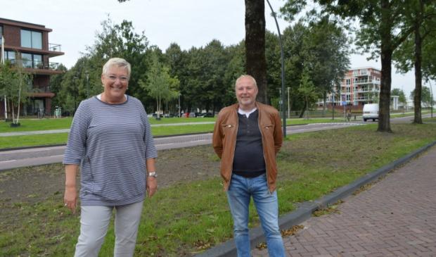 De actievoerders Georgette Rozendaal en Ulco Sijmonsma.