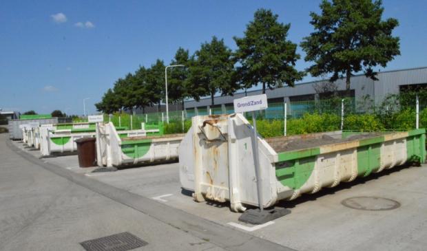 De milieustraat van de gemeente Dronten.