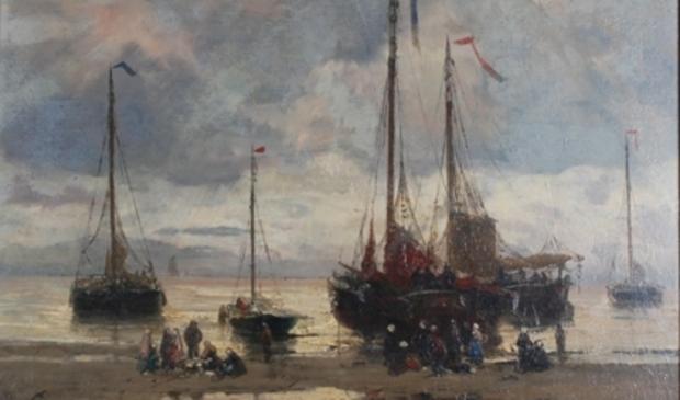 <p>'Bommen op het strand' van Hendrik Willem Mesdag (ca. 1880)</p>