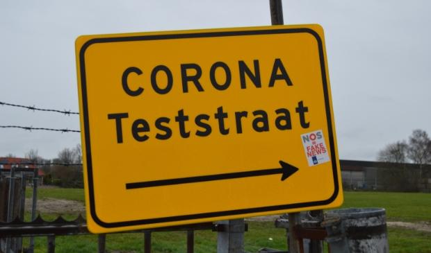<p>Corona-teststraat in Dronten.</p>