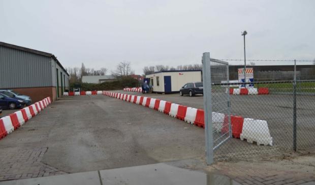 <p>GGD-coronateststraat aan de Nijverheidsweg in Dronten.</p>
