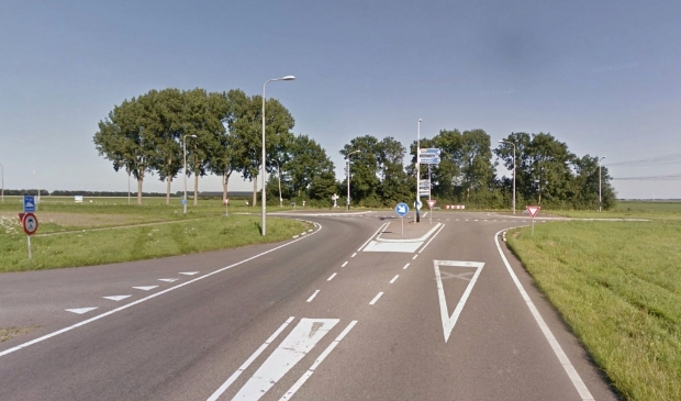 <p>De kruising Dronterweg - Biddingringweg</p>