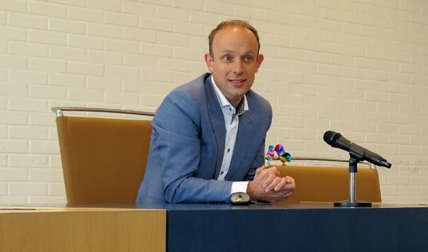 Wethouder Egge Jan de Jonge tijdens zijn presentatie