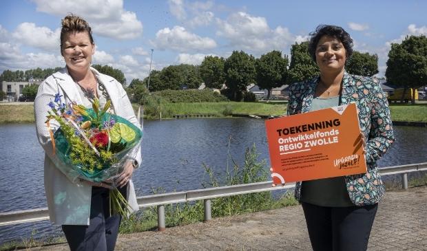 <p>Archieffoto van Alette van de Berg (Ikas) met&nbsp;wethouder Irene Korting.</p>