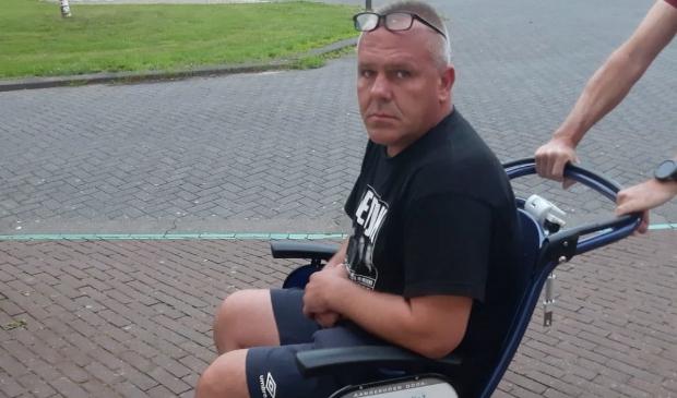 Marcin in het ziekenhuis in Lelystad.